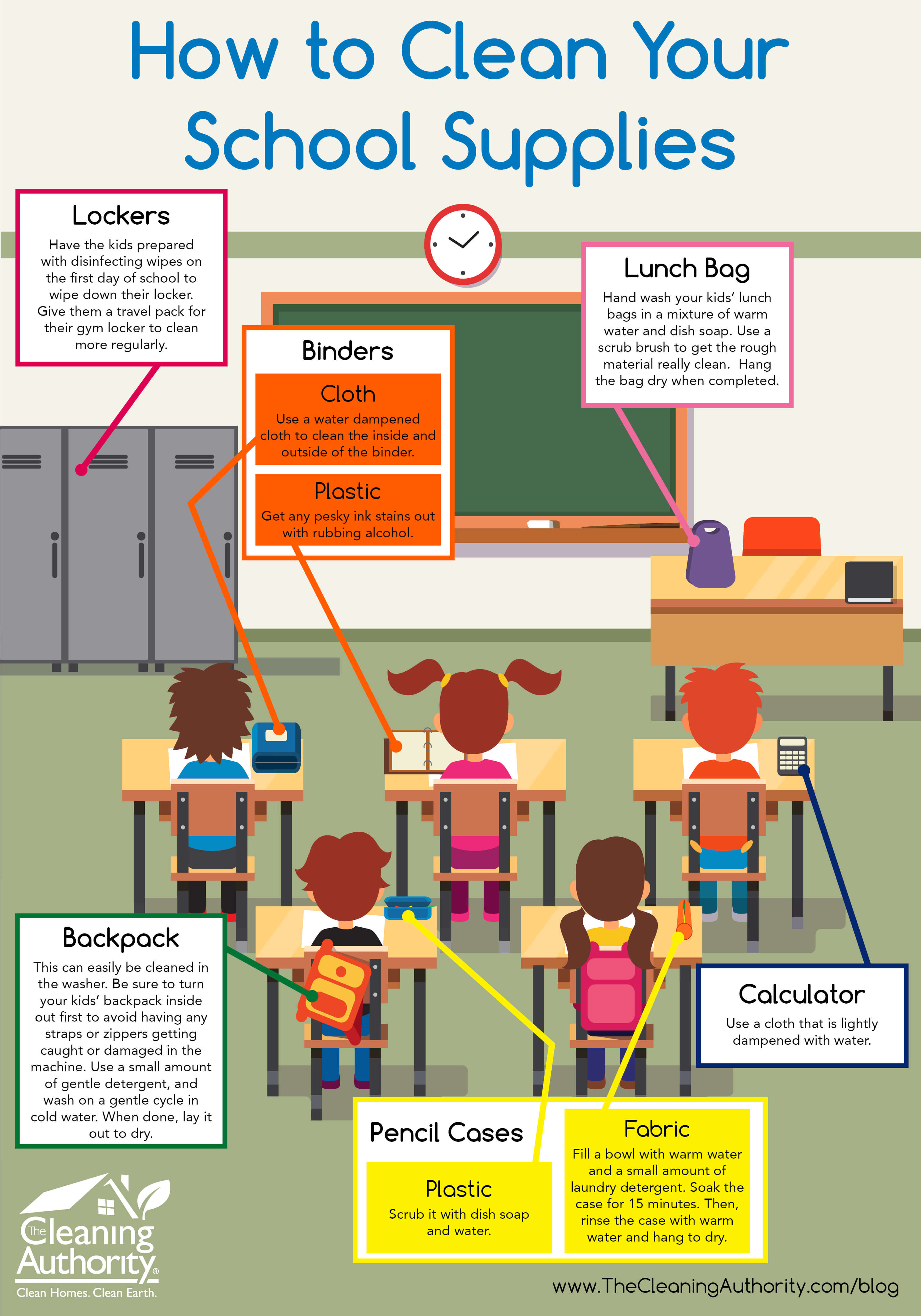 Infographic: How to Clean Your School Supplies